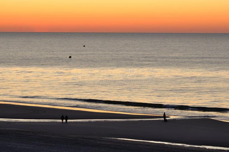 Alvorecer de Myrtle Beach imagem de stock