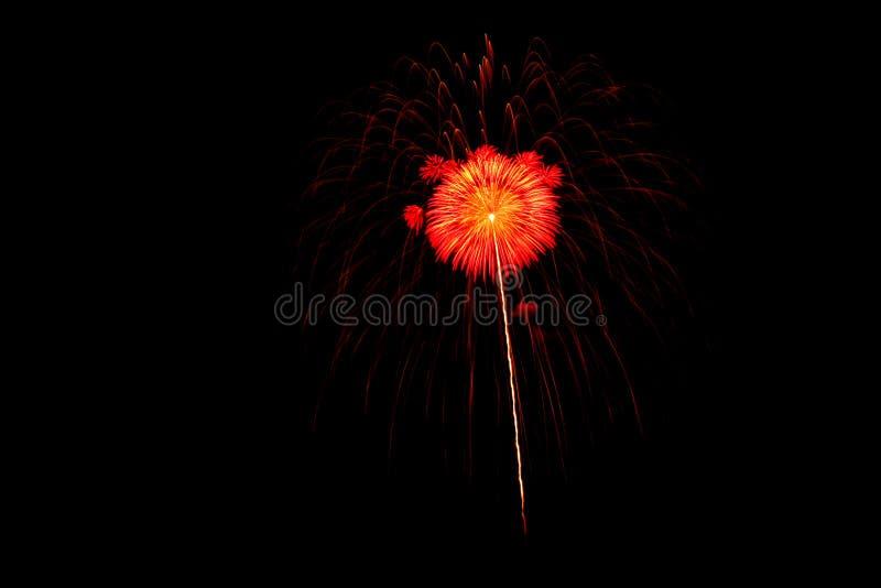Alvorens het vuurwerk uitschakelt stock afbeelding