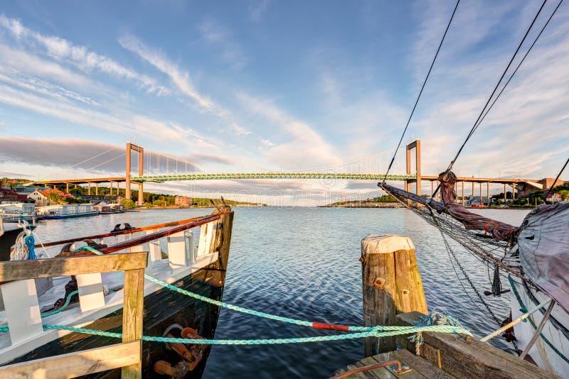 Alvsborg bridge in Goteborg, Sweden. A summer morning royalty free stock image
