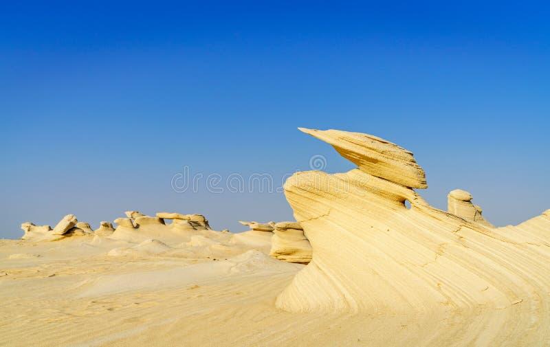 Alwathba Fossil Dunes w Zjednoczonych Emiratach Arabskich zdjęcie royalty free