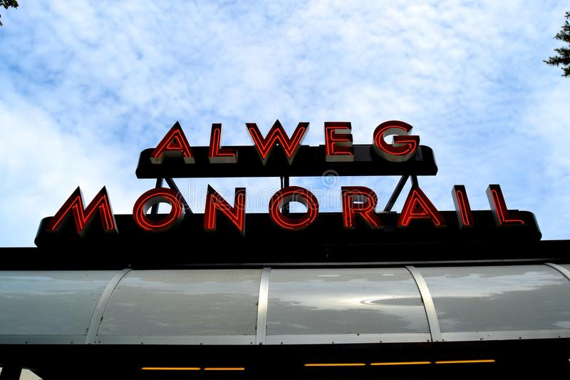 Alweg单轨铁路车 免版税图库摄影