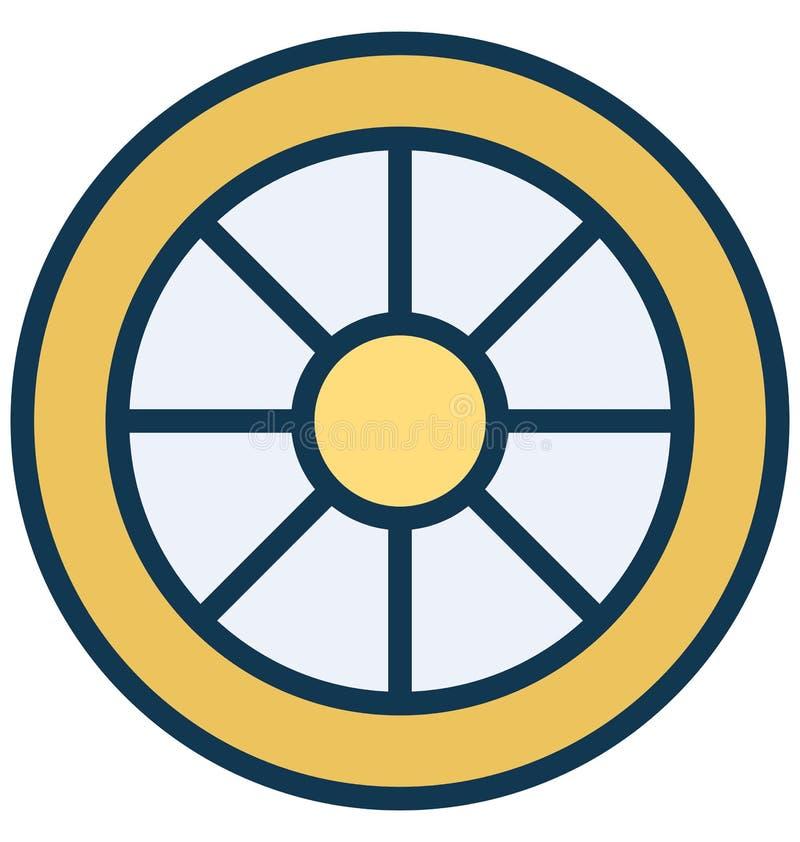 Aly obręcza Wektorowa ikona która może łatwo redagować w jakaś kolorze lub modyfikująca ilustracja wektor
