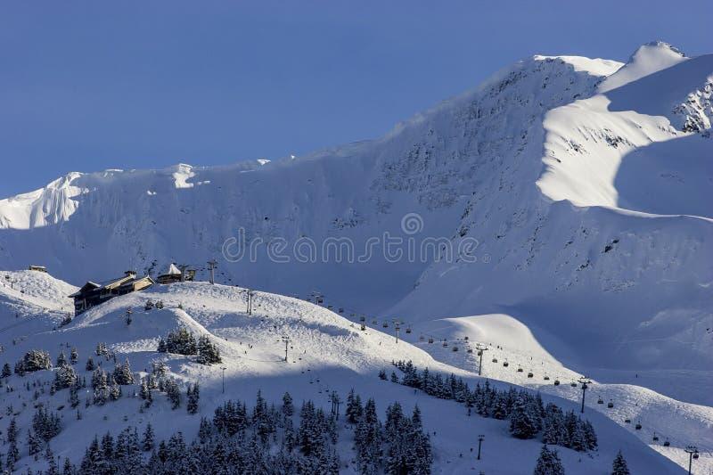 Alyeska-Erholungsort in den Chugach-Bergen nähern sich Anchorage, Alaska lizenzfreies stockfoto