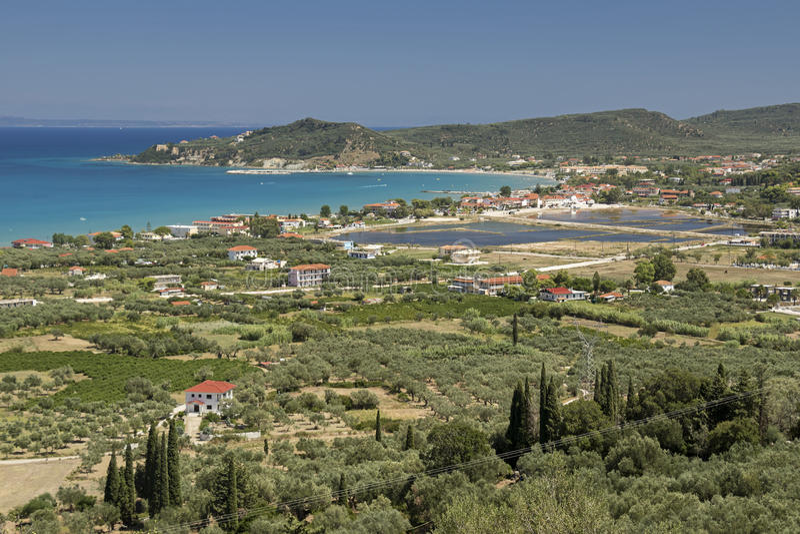 Alykes, isola di Zacinto, Grecia immagini stock libere da diritti