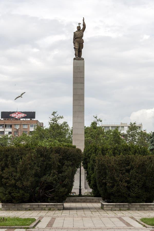 Alyosha-Monument in der Mitte der Stadt von Burgas, Bulgarien lizenzfreies stockfoto