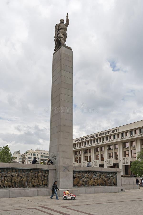 Alyosha-Monument in der Mitte der Stadt von Burgas, Bulgarien stockfotografie