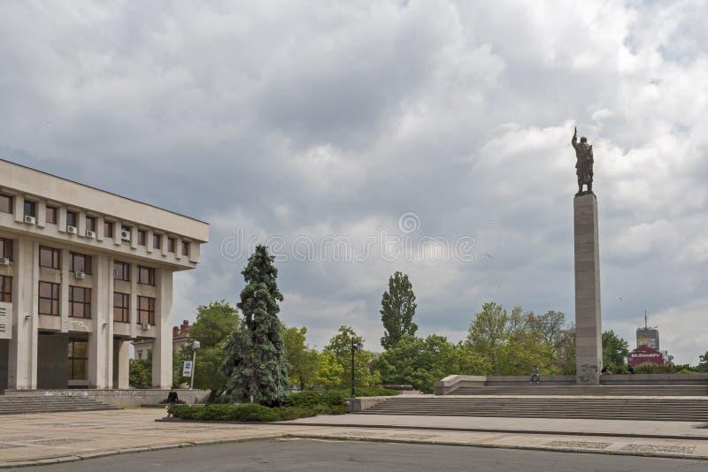 Alyosha-Monument in der Mitte der Stadt von Burgas, Bulgarien lizenzfreies stockbild