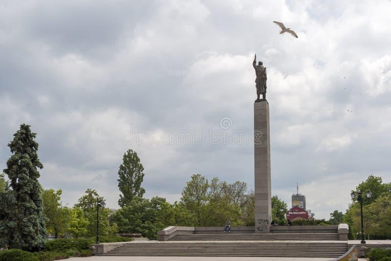 Alyosha-Monument in der Mitte der Stadt von Burgas, Bulgarien stockbilder