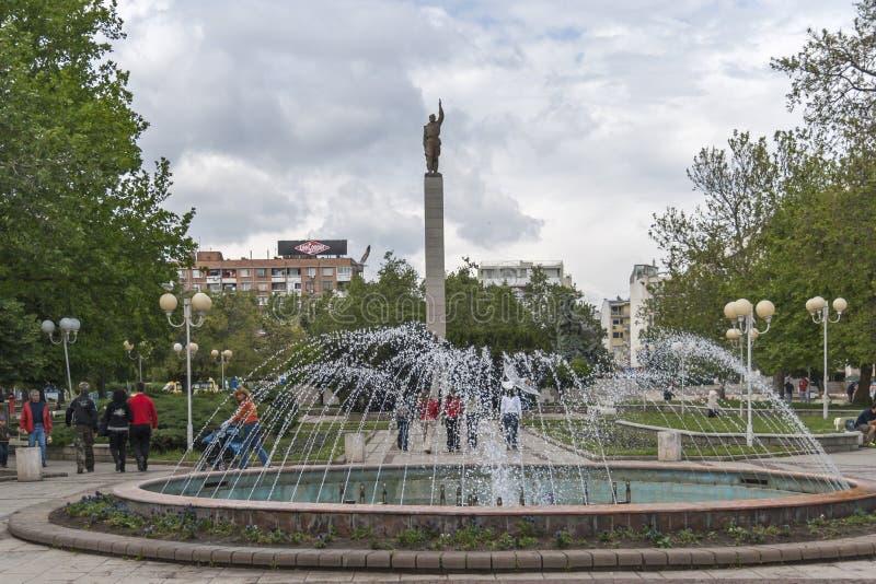 Alyosha-Monument in der Mitte der Stadt von Burgas, Bulgarien stockbild