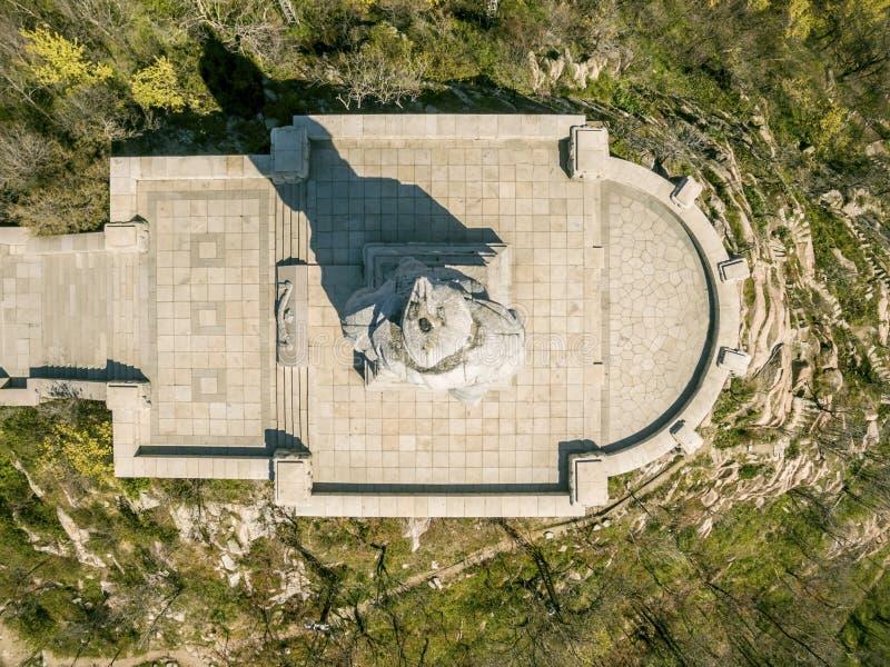 Alyosha-Monument in Plowdiw lizenzfreies stockbild