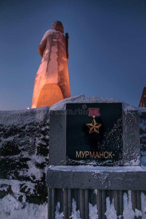 Alyosha-Monument, Verteidiger der Sowjet-Arktis während des großen patriotischen Krieges, Murmansk, Russland lizenzfreie stockfotos