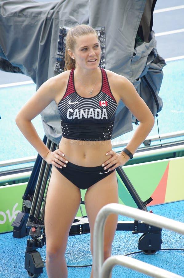 Alysha Newman, kanadischer Leichtathlet lizenzfreie stockfotos