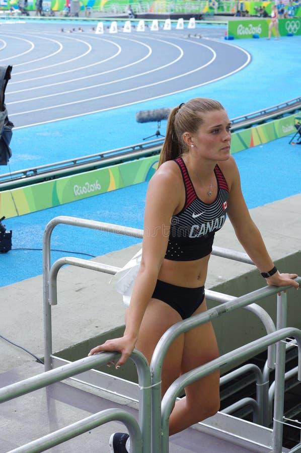 Alysha Newman, kanadischer Leichtathlet stockbilder