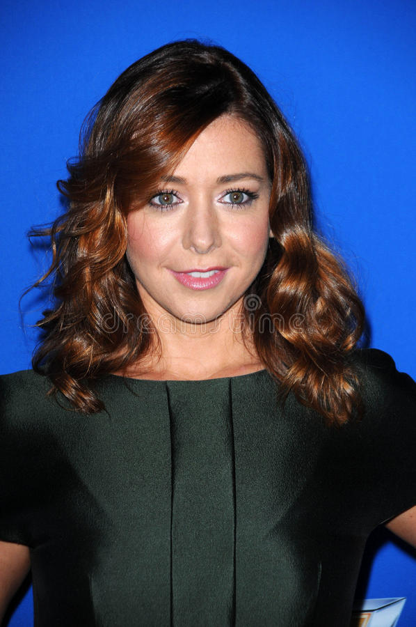 Download Alyson Hannigan redaktionelles stockfoto. Bild von fall - 26355528