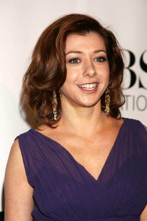 Alyson Hannigan stock foto