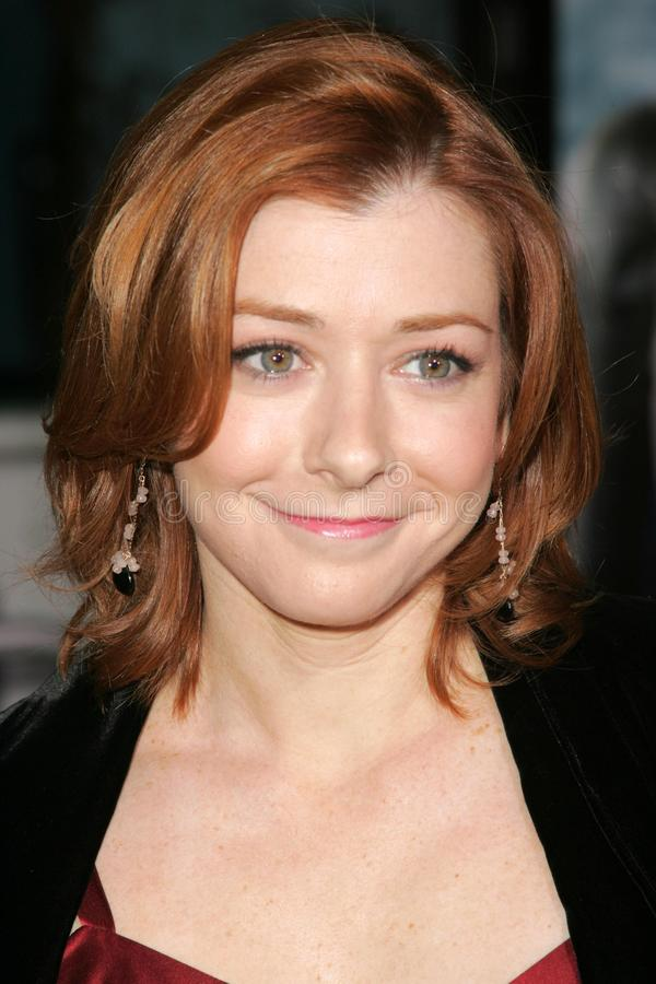 Alyson Hannigan photographie stock