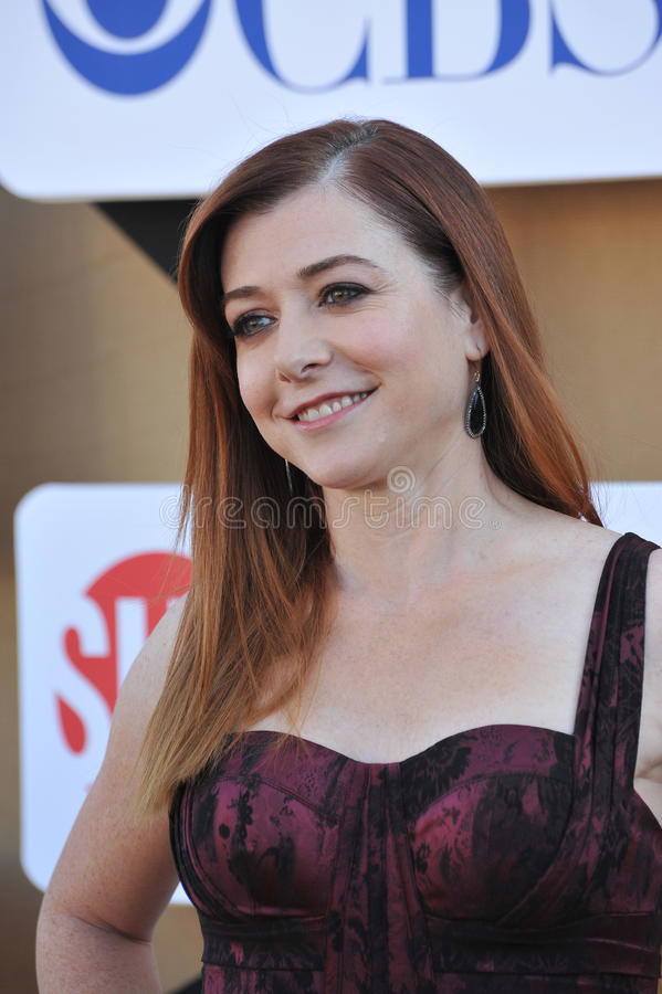 Alyson Hannigan photo libre de droits