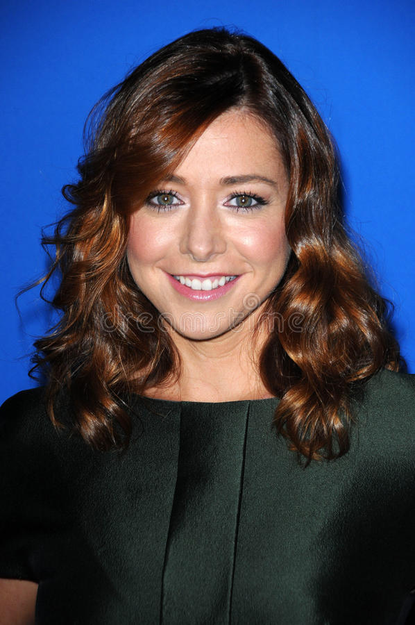 Alyson Hannigan royalty free stock images