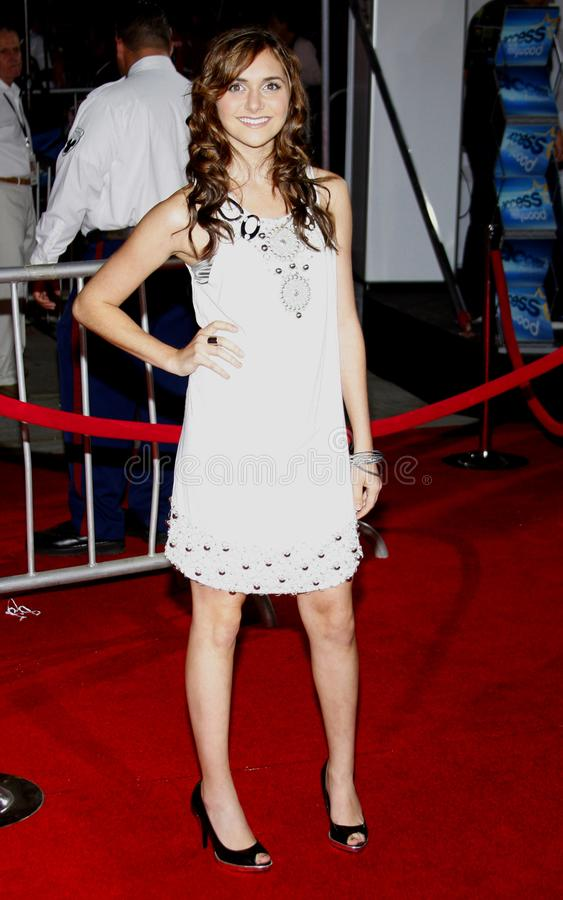 Alyson Stoner. At the Los Angeles premiere of `High School Musical 3: Senior Year` held at the Galen Center in Los Angeles, USA on October 16, 2008 royalty free stock photography