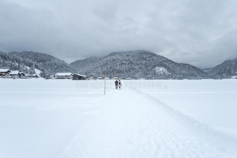 Alza bávara del invierno imágenes de archivo libres de regalías