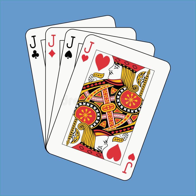 Download Alza Con El Gato El Póker En Azul Ilustración del Vector - Ilustración de cara, éxito: 7150328