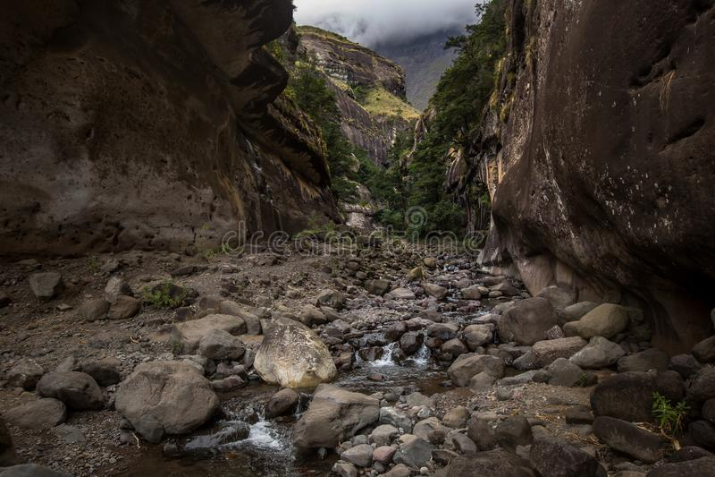 Alza de Drakensberg Tugela imagen de archivo libre de regalías