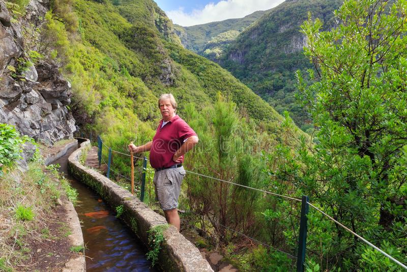 Alza Madeira del valle de Levada imagenes de archivo