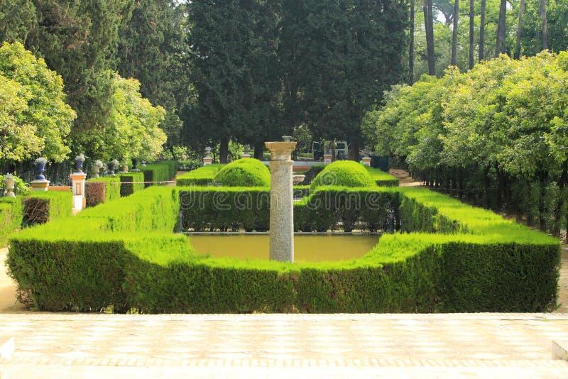Download Alzacar garden in Seville stock photo. Image of alcazar - 24872568