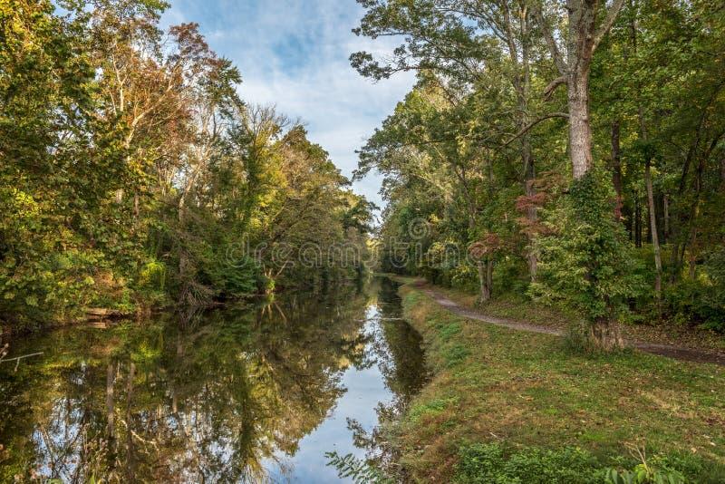 Alzaia del canale del Delaware fotografia stock