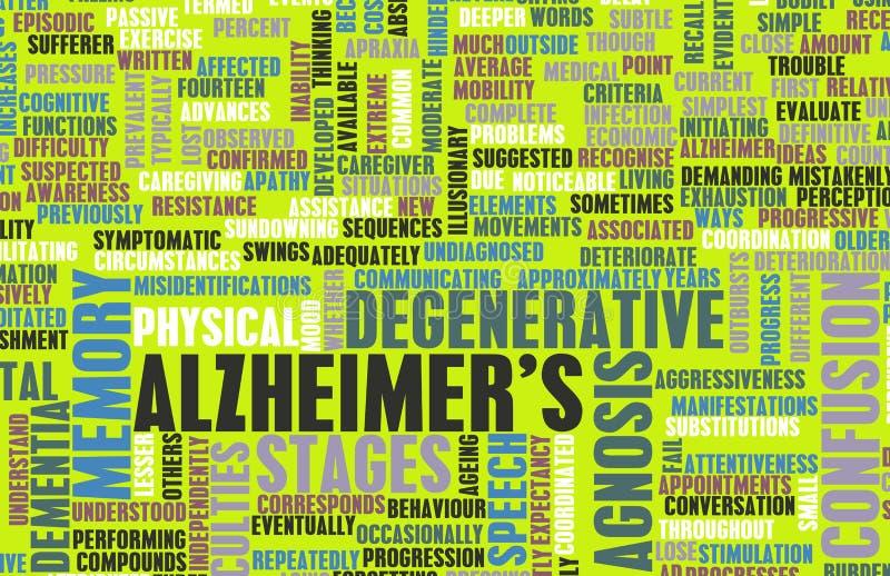 Alzheimer illustration stock
