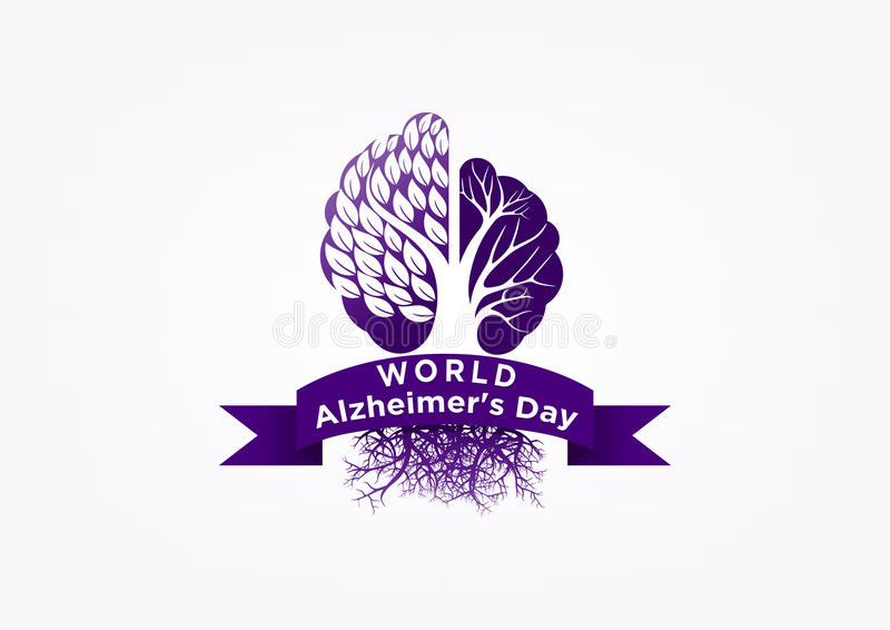 alzheimer vector illustratie