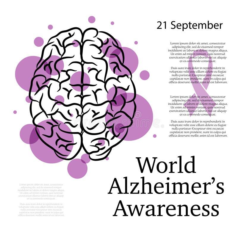Alzheimer-Bewusstseinshintergrund vektor abbildung