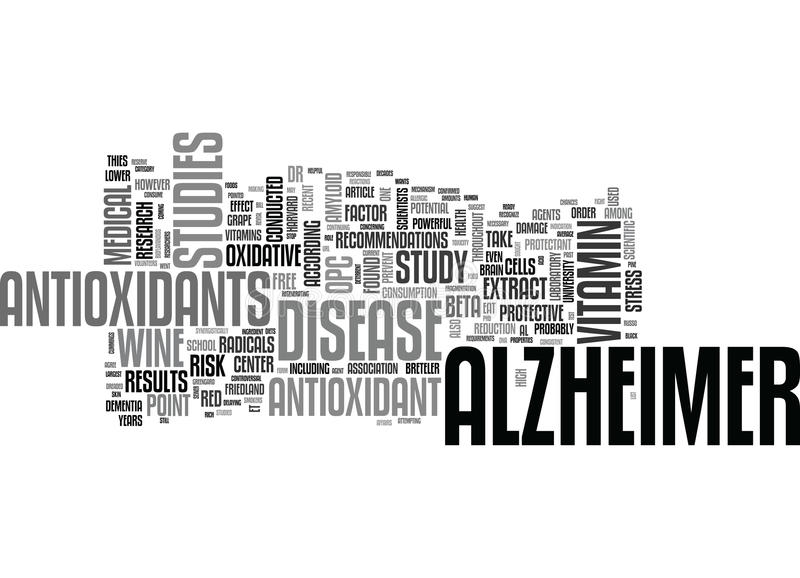 Alzheimer Care Word Cloud. ALZHEIMER CARE TEXT WORD CLOUD CONCEPT royalty free illustration