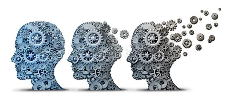 Alzheimer Demenz Brain Disease lizenzfreie abbildung