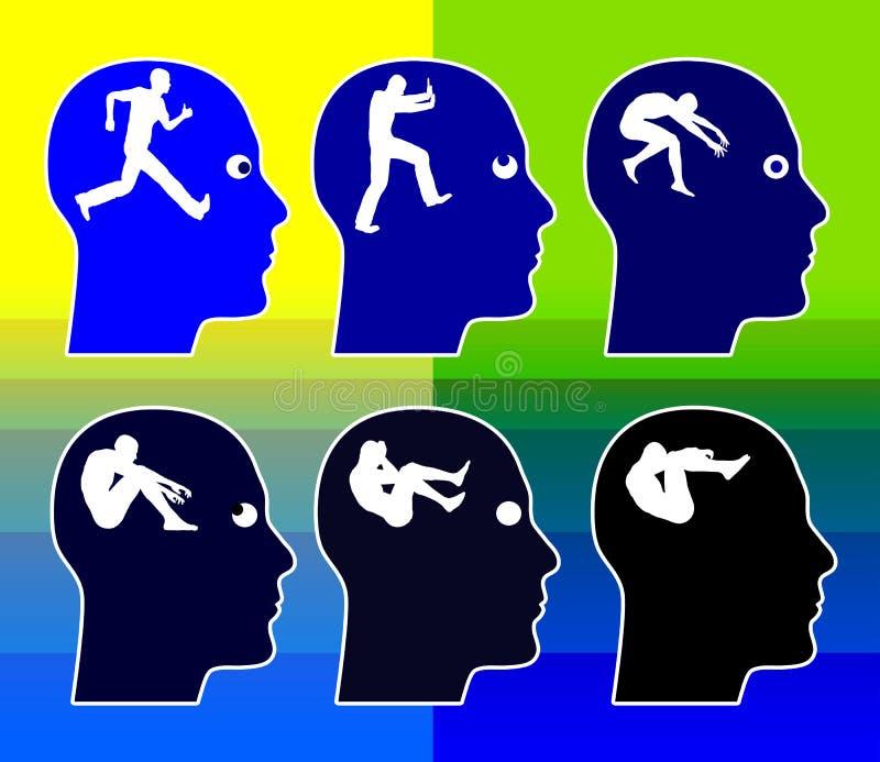 Alzheimer e conceito da demência ilustração royalty free