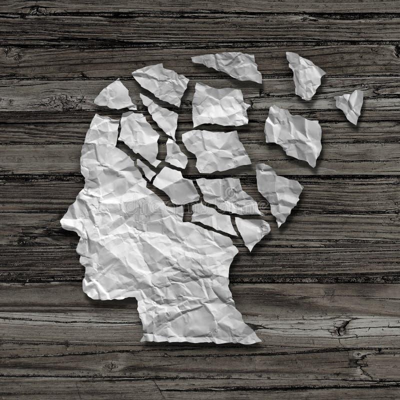 Alzheimer-Patient lizenzfreie abbildung