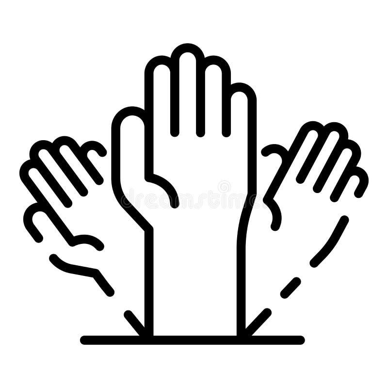 Alzheimer ręki ikona, konturu styl royalty ilustracja