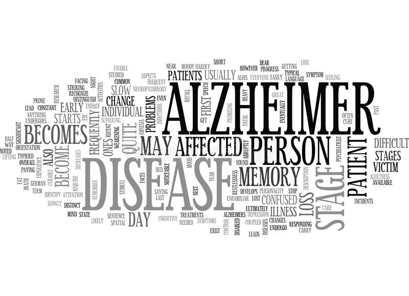 Alzheimer Research Word Cloud vector illustration