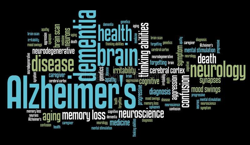 Alzheimer's disease vector illustration