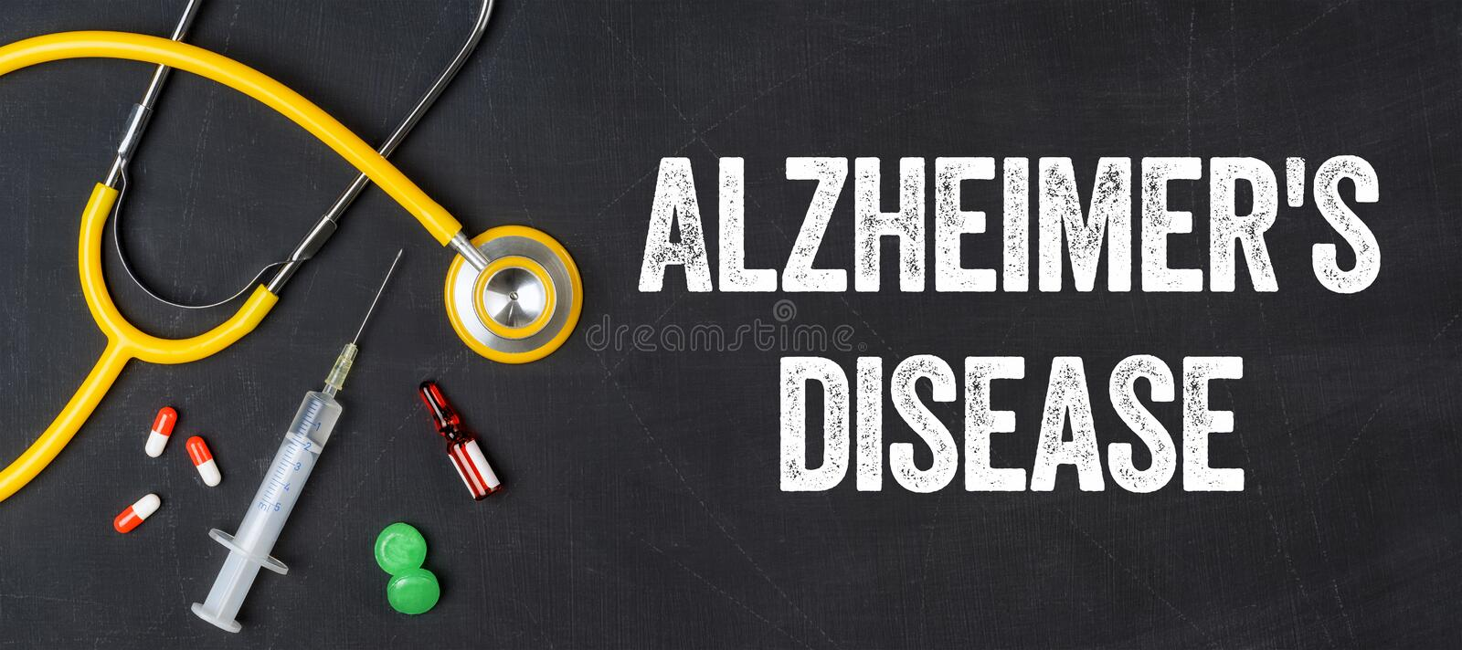 Alzheimer`s disease stock photography