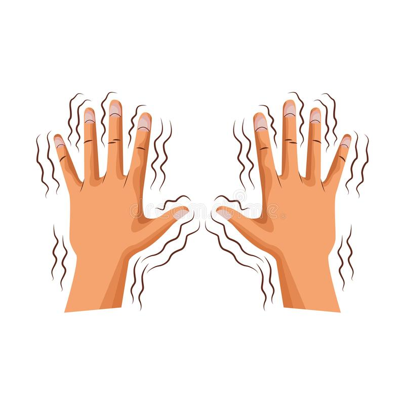 Alzheimer shaking hands. Vector illustration graphic design royalty free illustration