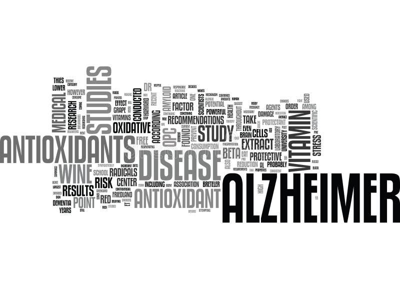 Alzheimer-Sorgfalt-Wort-Wolke lizenzfreie abbildung