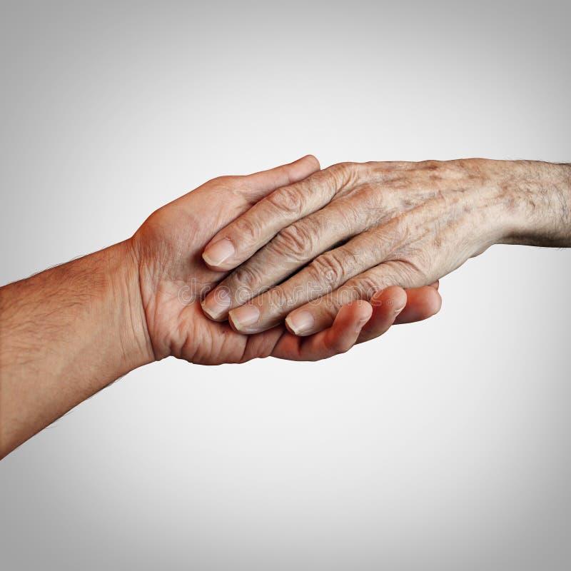 Alzheimer tålmodig omsorg arkivfoton
