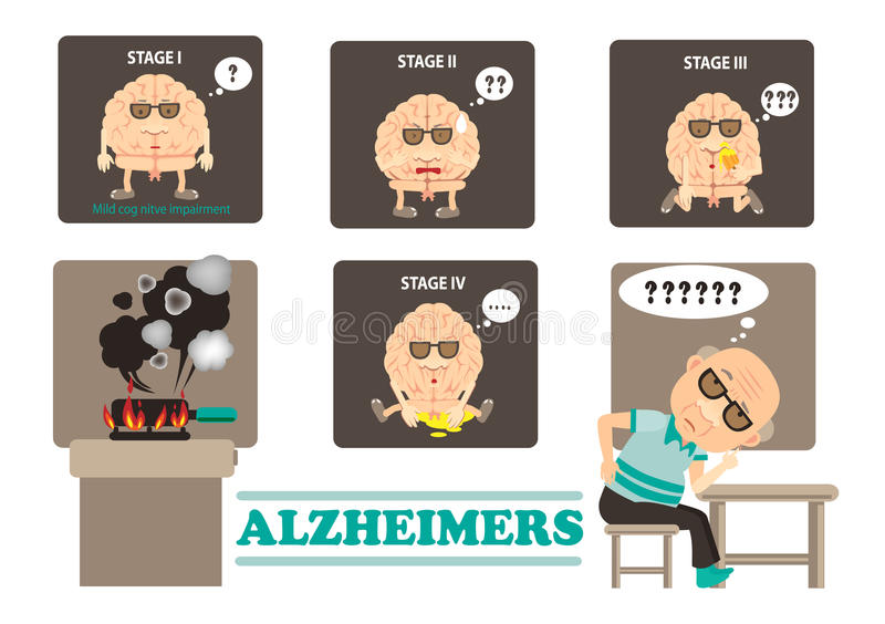 Alzheimers illustration stock