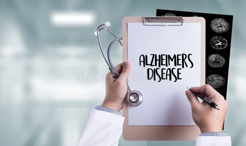 Alzheimers choroby pojęcie, Móżdżkowe degeneracyjne choroby Parkin zdjęcia stock
