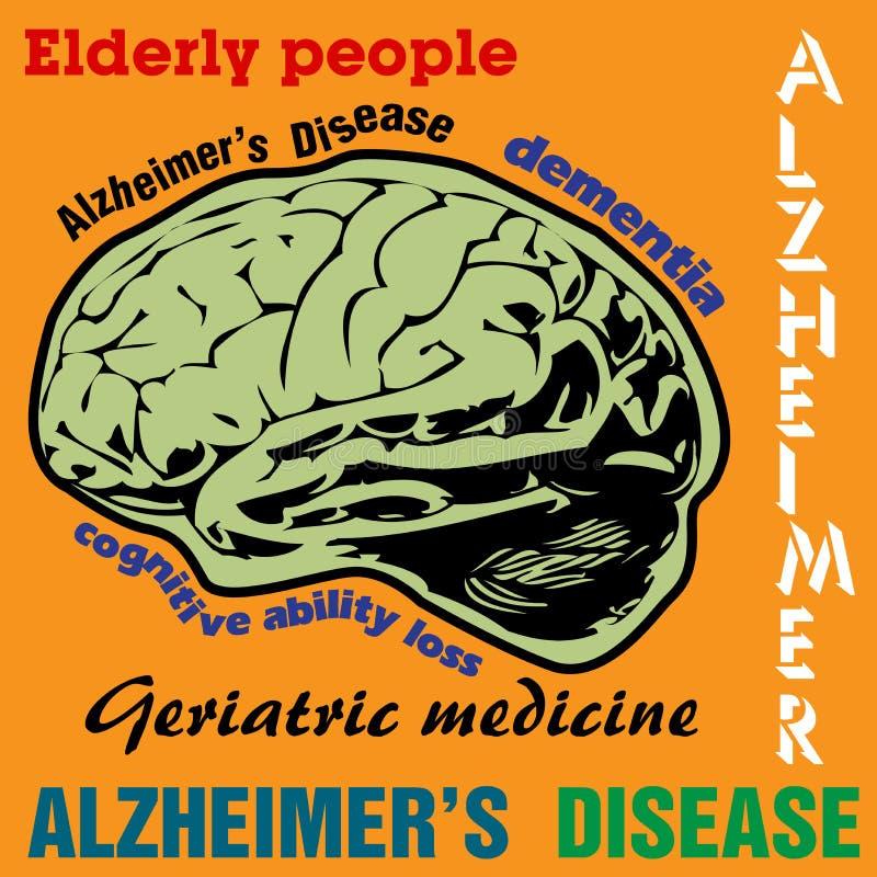 Alzheimers-Krankheit lizenzfreie abbildung