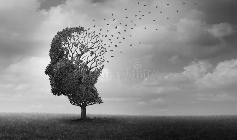 Alzheimers sjukdommentala hälsor vektor illustrationer