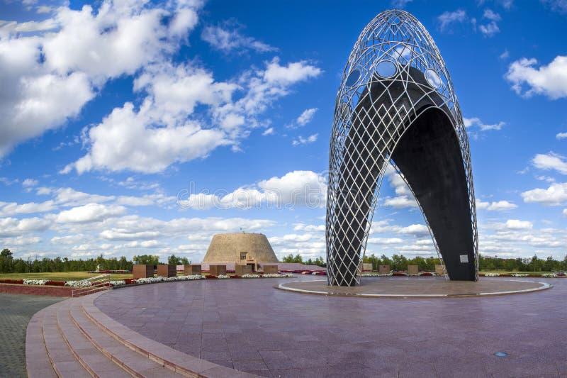 Alzhir - museu e complexo memorável das vítimas de repressões políticas e de totalitarismo fotografia de stock