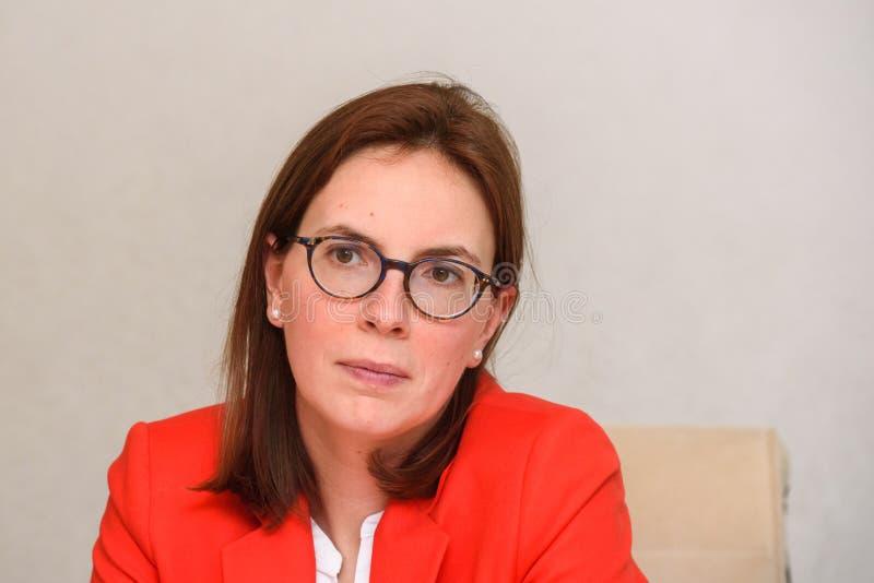 Amélie de Montchalin, secretário de estado para casos europeus de França fotografia de stock