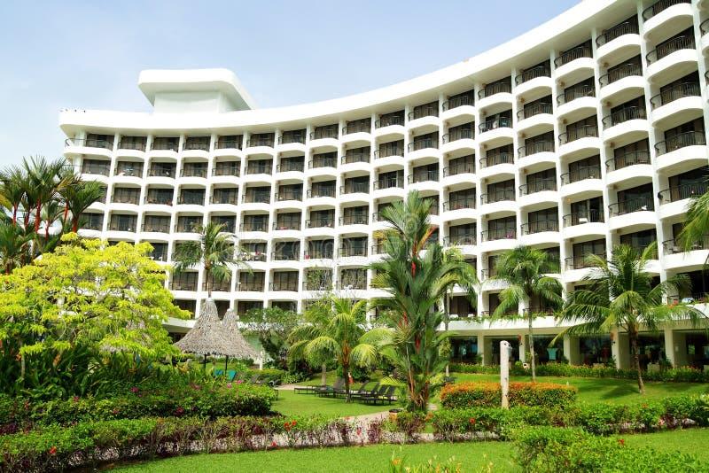Aménagement de jardin d'hôtel image libre de droits